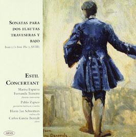 Juan Pla: Sonatas para dos flautas traversas y bajo (Arsis)