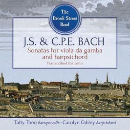 Johann Sebastian Bach: Sonatas for Viola da Gamba and Harpsichord transcribed for cello (Avie)