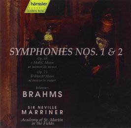 Johannes Brahms: Symphonies nos. 1 & 2 (2CD, Hänssler)