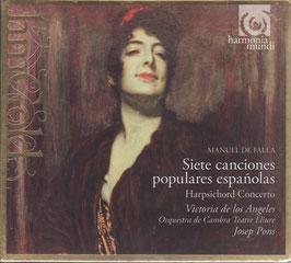 Manuel de Falla: Siete canciones populares espanolas, Harpsichord Concerto (Harmonia Mundi)