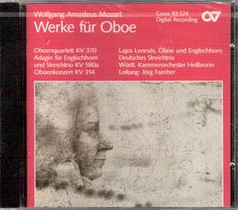 Wolfgang Amadeus Mozart: Werke für Oboe (Carus)