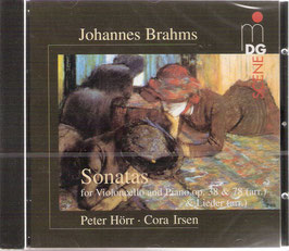 Johannes Brahms: Sonatas for Violoncello and Piano op. 38 & 78 (arr.) & Lieder (arr.) (MDG)