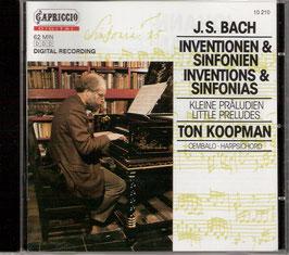 Johann Sebastian Bach: Inventions & Sinfonias, Little Preludes (Capriccio)