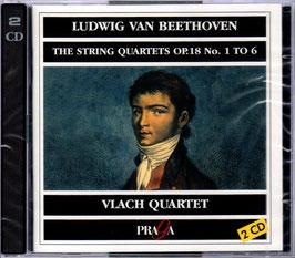 Ludwig van Beethoven: String Quartets op. 18 No. 1 to 6 (2CD, Praga)