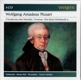 Wolfgang Amadeus Mozart: 6 Symphonies after Serenades, Overture, Eine kleine Nachtmusiek etc. (4CD, Sony Vivarte)
