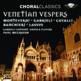 Venetian Vespers: Monteverdi, Gabrieli, Cavalli, Banchieri, Lassus (5CD, Brilliant)