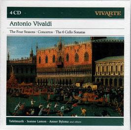 Antonio Vivaldi: The Four Seasons, Concertos, The 6 Cello Sonatas (4CD, Sony Vivarte)