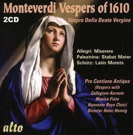 Claudio Monteverdi: Vespers of 1610, Vespro della Beata Vergine (2CD, Alto)