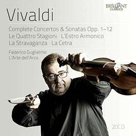 Antonio Vivaldi: Complete Concertos & Sonatas Opp. 1-12, Le Quattro Stagioni, L'Estro Armonico, La Stravaganza, La Cetra (20CD, Brilliant)