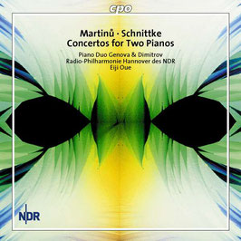 Bohuslav Martinu, Alfred Schnittke: Concertos for Two Pianos (CPO)
