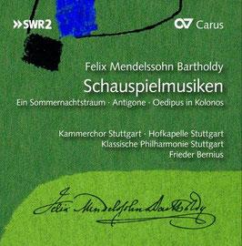 Felix Mendelssohn-Bartholdy: Schauspielmusiken Ein Sommernachtstraum, Antigone, Oedipus in Kolonos (3CD, Carus)
