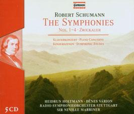 Robert Schumann: The Symphonies Nos. 1-4, Zwickauer, Piano Concerto, Kinderszenen, Symphonic Etudes (5CD, Capriccio)