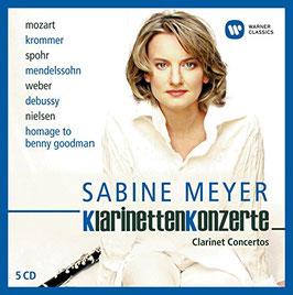 Sabine Meyer: Clarinet Concertos Mozart, Krommer, Spohr, Mendelssohn, Weber, Dubussy, Nielsen, Homage to Benny Goodman (5CD, EMI)