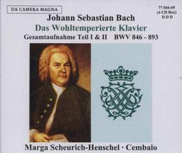 Johann Sebastian Bach: Das Wohltemperierte Klavier, Gesamtaufnahme Teil I & II (4CD, Da Camera Magna)