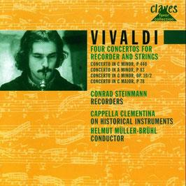 Antonio Vivaldi: Four Concertos for Recorder and Strings (Claves)