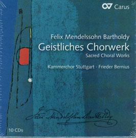 Felix Mendelssohn-Bartholdy: Geistliches Chorwerk (10CD, Carus)