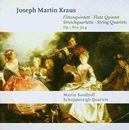 Joseph Martin Kraus: Flötenquintett, Streichquartette Op. 1 Nos. 3 & 4 (Capriccio)