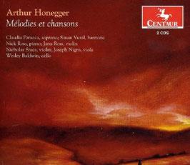 Arthur Honegger: Mélodies et chansons (2CD, Centaur)