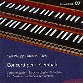 Carl Philipp Emanuel Bach: Concerti per il Cembalo (Carus)
