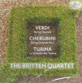 Giuseppe Verdi: String Quartet, Luigi Cherubini: String Quartet no. 1, Joaquin Turina: La Oracion del Torero (Brilliant)