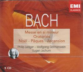 Johann Sebastian Bach: Messe en si mineur, Weihnachtsoratorium, Osteroratorium, Himmelfahrtsoratorium (5CD, EMI)