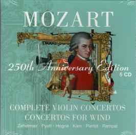 Wolfgang Amadeus Mozart: Complete Violin Concertos, Concertos for Wind (5CD, Warner)