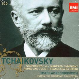 Pyotr Ilyich Tchaikovksy: Symphonies 1-6, Manfred Symphony, Romeo and Juliet, Francesca da Rimini (5CD, EMI)