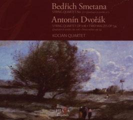 Bedrich Smetana: String Quartet No 2, Antonin Dvorak: String Quartet Op. 106, Two Walzes Op. 54 (Praga)