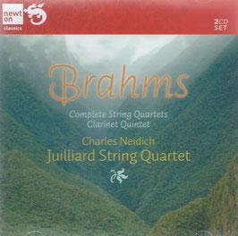 Johannes Brahms: Complete String Quartets & Clarinet Quintet (2CD, Newton)
