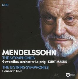 Felix Mendelssohn-Bartholdy: The 5 Symphonies, The 13 String Symphonies (6CD, Warner)