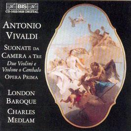 Antonio Vivaldi: Suonate da camera a tre, Due Violini e Violone o Cembalo, Opera Prima (2CD, BIS)