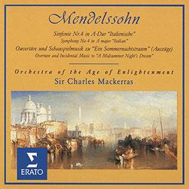 Felix Mendelssohn-Bartholdy: Sinfonie Nr. 4 in A-Dur 'Ítaliensiche', Ouvertüre und Schauspielmuziek zu 'Ein Sommernachtstraum' (Erato)
