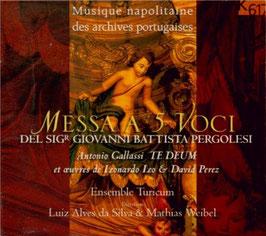 Giovanni Battista Pergolesi: Messa a 5 voci, Antonio Gallassi: Te Deum (K617)
