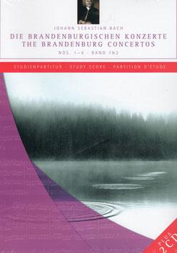 Johann Sebastian Bach: Die Brandenburgischen Konzerte Nos 1-6, Studienpartitur (2CD, Boek met partituur op A4-formaat, Capriccio)