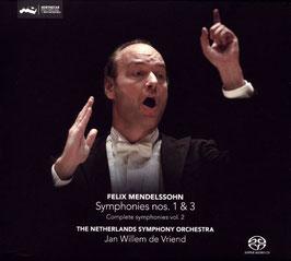Felix Mendelssohn-Bartholdy: Symphonies nos. 1 & 3 (SACD, Challenge Classics)