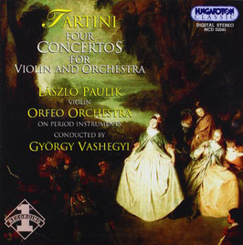 Giuseppe Tartini: Four Concertos for Violin and Orchestra (Hungaroton)