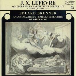 Jean Xavier Lefèvre: Quatuors pour Clarinette et Cordes I-IV (Tudor)