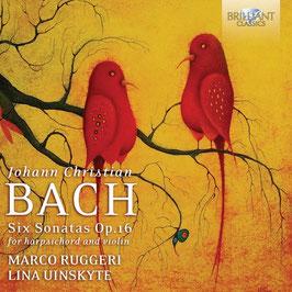 Johann Christian Bach: Six Sonatas Op. 16 for harpsichord and violin (Brilliant)