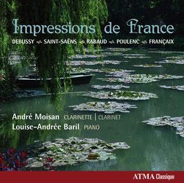 Impressions de France: Debussy, Saint-Saëns, Rabaud, Poulenc, Françaix (Atma)