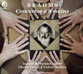 Johannes Brahms: Concertos à 8 mains, The Piano Concertos, period transcriptions for eight hands (3CD, Ligia Digital)