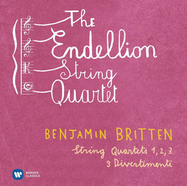Benjamin Britten: String Quartets 1, 2, 3, 3 Divertimenti (2CD, Warner)