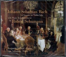 Johann Sebastian Bach: 6 Sonatas for Violin Solo with Piano Accompaniment by Robert Schumann (2CD, MDG)