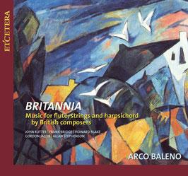 Britannia, Music for flute, strings and harpsichord by British composers: John Rutter, Frank Bridge, Howard Blake, Gordon Jacob, Allan Stephenson (Etcetera)