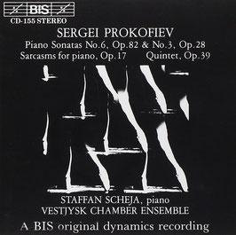 Sergei Prokofiev: Piano Sonatas No. 3 & 6, Sarcasms for piano op. 17, Quintet op. 39 (BIS)