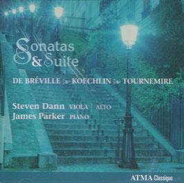 Pierre de Bréville, Charles Koechlin, Charles Tournemire: Sonates & Suite (Atma)