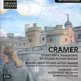 John Baptist Cramer: Studio per il Pianoforte, 84 Études in Four Books, Feruccio Busoni: Eight Études after Cramer (2CD, Grand Piano)