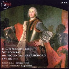 Johann Sebastian Bach: Six sonatas for Violin and Harpsichord BWV 1014-1019 (2CD, Musica Omnia)
