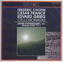 Frédéric Chopin, Cesar Franck, Edvard Grieg: Cellosonates (Divox)