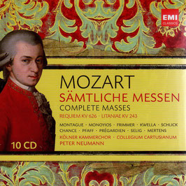 Wolfgang Amadeus Mozart: Sämtliche Messen, Requiem KV 626, Litaniae KV 243, Kirchensonaten (10CD, EMI)
