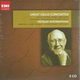Great Cello Concertos Bloch, Dvorak, Haydn, Saint-Saëns, Schumann, Shostakovich, Strauss (5CD, EMI)